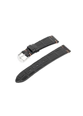 Dây đồng hồ không chỉ viền da cá sấu thật gắn sẵn khóa