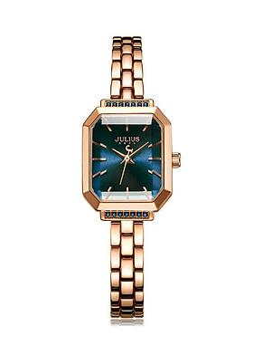 Đồng Hồ Nữ Julius Hàn Quốc JA-1064C Dây Hợp Kim (Đồng Mặt Xanh Dương)