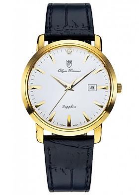 Đồng hồ nam dây da Olym Pianus OP130-06MK-GL trắng