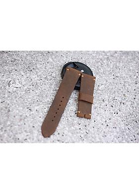 Dây Đồng Hồ Da Bò Sáp 1 lớp cực bụi ( kèm khóa + 1 tool thay dây )