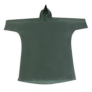 Hình đại diện sản phẩm Áo Mưa Trùm Poncho Vải Polyester #120-2 (Free Size) - Xanh Rêu