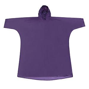 Hình đại diện sản phẩm Áo Mưa Trùm Poncho Vải Polyester #120-3 (Free Size) - Tím