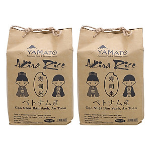 Hình đại diện sản phẩm Combo 2 Bịch Gạo Nhật Akira Rice (2Kg / Bịch)