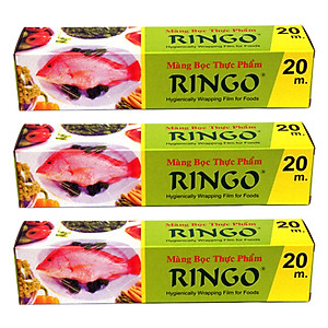 Hình đại diện sản phẩm Bộ 3 Màng Bọc Thực Phẩm PVC Ringo MW20 (20cm x 20m)