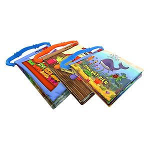 Hình đại diện sản phẩm Bộ 3 Sách Vải Kèm Gặm Nướu Pipovietnam (Hình Khối - Sinh Vật Biển - Rau Củ Quả)