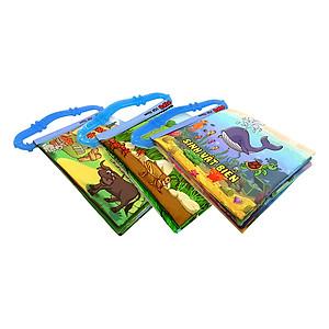 Hình đại diện sản phẩm Bộ 3 Sách Vải Kèm Gặm Nướu Pipovietnam (Động Vật Nuôi - Sinh Vật Biển - Côn Trùng)