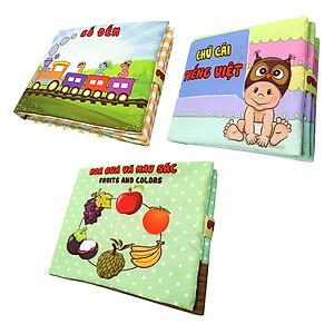 Hình đại diện sản phẩm Bộ 3 Sách Vải Pipovietnam (Hoa Quả - Chữ Cái Tiếng Việt - Số Đếm)