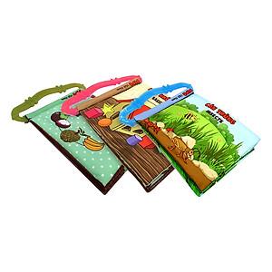 Hình đại diện sản phẩm Bộ 3 Sách Vải Kèm Gặm Nướu Pipovietnam (Hoa Quả - Hình Khối - Côn Trùng)