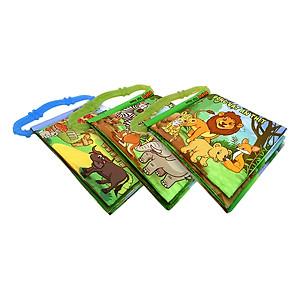 Hình đại diện sản phẩm Bộ 3 Sách Vải Kèm Gặm Nướu Pipovietnam Động Vật