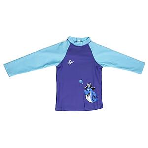 Hình đại diện sản phẩm Áo Bơi Chống Tia UV Cho Bé 6 Tháng - 3 Tuổi Gosweaty BEBE04 - Xanh Dương Phối Xanh Ngọc