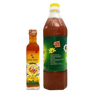 Hình đại diện sản phẩm Combo Thực Phẩm Chức Năng Mật Ong Thiên Nhiên 5 Sạch Honeyboy (250ml) + Thực Phẩm Chức Năng Mật Ong Thô Honeyboy (1000ml)