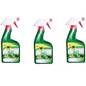 Hình đại diện sản phẩm Combo 3 chai phân bón lá pha sẵn cho Hoa lan và cây cảnh dạng xịt Đầu Trâu Spray 1 (500ml/chai)