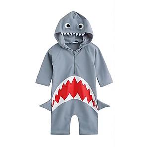 Hình đại diện sản phẩm Bộ bơi liền cộc hình cá mập cho bé từ 2 đến 7 tuổi