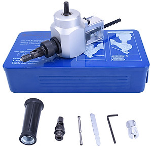 Hình đại diện sản phẩm Đầu cắt tôn cắt gỗ 2 trong 1 gắn vào máy khoan (có hộp thiếc). Trọn bộ dụng cụ cắt tôn cắt gỗ liên hợp, tặng kèm 1 đầu cắt dự phòng + 1 lưỡi cưa