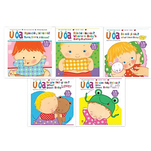 Hình đại diện sản phẩm Combo Sách Ú Òa (Sách lật song ngữ Anh - Việt) - Trọn bộ 5 cuốn - Dành cho trẻ từ 1-5+ tuổi (tặng kèm 1 tẩy hình thú như hình)