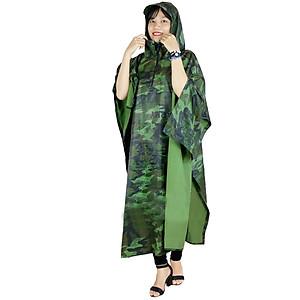 Hình đại diện sản phẩm Áo mưa cánh dơi vải dù hoạ tiết lính nữ 1m2
