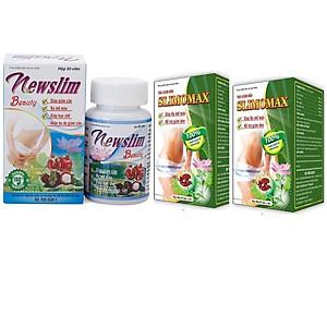 Hình đại diện sản phẩm Liệu trình giảm cân 1 hộp viên uống giảm cân Newslim Beauty (30 viên/ hộp) + 2 hộp trà Slimomax Học viện quân y - HÀNG CHÍNH HÃNG