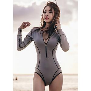 Áo Tắm Tay Dài Liền Thân Tôn Dáng MAY_MAT102
