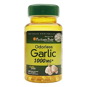 Hình đại diện sản phẩm Thực Phẩm Chức Năng - Dầu Tỏi Không Mùi Tăng Cường Miễn Dịch, Giảm Cholesterol Odorless Garlic 1000Mg (100 Viên)