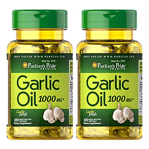 Hình đại diện sản phẩm Thực Phẩm Chức Năng - Bộ 2 Viên Uống Dầu Tỏi Tăng Cường Hệ Miễn Dịch, Giảm Cholesterol Garlic Oil 1000mg (100 Viên)