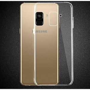 Hình đại diện sản phẩm Ốp lưng dành cho Samsung A730/A7 2018 dẻo trong suốt - Màu trắng trong suốt