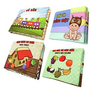 Hình đại diện sản phẩm Bộ 4 Sách Vải Pipovietnam (Hoa Quả - Chữ Cái Tiếng Việt - Số Đếm - Hình Khối)