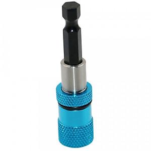 Hình đại diện sản phẩm Shank Magnetic Bit Screwdriver Bit Portable Hex Shank Drywall Drill Bit Holder Extension Bar 1/4 Blue Power Tool Parts