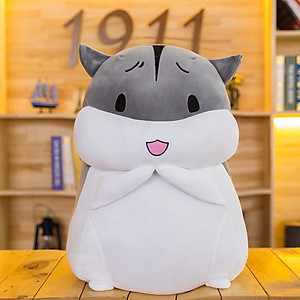 Hình đại diện sản phẩm Jingyi (JINGYI) birthday gift girl Christmas gift for girlfriend girl girl wife girl heart practical creative gift hamster pillow gray happy (50cm)