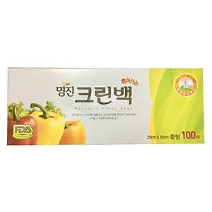 Hình đại diện sản phẩm Túi Đựng Thực Phẩm Hàn Quốc Size M Hộp 100 Cái (25x35cm)