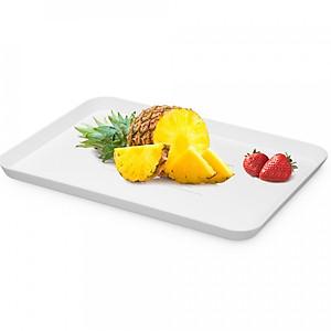 Hình đại diện sản phẩm Plastic Tray Serving Tray Simple Fast Food Tray Shallow Tray PP Tray Small Sturdy Tray Fruit Platter Rectangular Tray