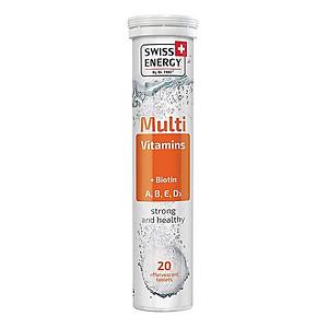 Hình đại diện sản phẩm Thực Phẩm Bảo Vệ Sức Khoẻ Viên sủi Swiss Energy Multivitamins + Biotin ( 20 Viên/ Tuýp)