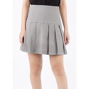 Hình đại diện sản phẩm Chân Váy A Tweed Xếp Li De Leah - Ghi