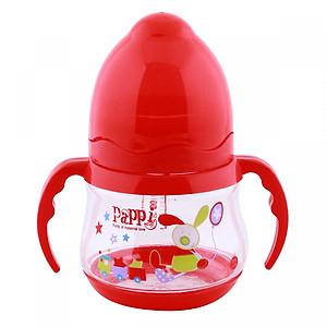 Bình Sữa Cổ Rộng Quai Cầm Pappi (150ml) - Đỏ
