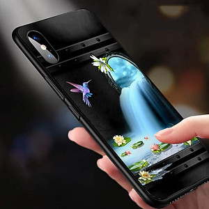 Ốp Lưng Dành Cho Máy Iphone XS -Ốp Ảnh Bướm Nghệ Thuật 3D Tuyệt Đẹp -Ốp Cứng Viền TPU Dẻo,Ốp Chính Hãng Cao Cấp - MS BM0009