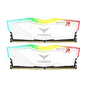Hình đại diện sản phẩm Ram TEAMGROUP T-Force Delta RGB Series 16GB (2 x 8GB) - 3000MHz LED 16,8 triệu màu, tản nhiệt nhôm Trắng
