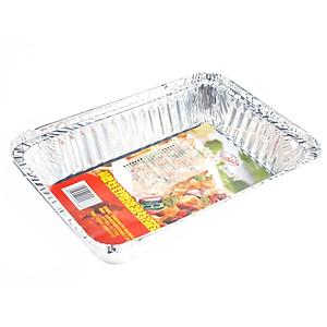 Hình đại diện sản phẩm Still roasted tin foil aluminum foil dish barbecue roasted aluminum foil box barbecue dish barbecue dish five loaded