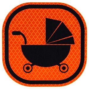 Hình đại diện sản phẩm 3M Diamond Reflective Warning Sticker Baby Car Logo Car Sticker Fluorescent Yellow Green 10x10cm Baby in Car Car Baby Car Baby Sticker Night Safety Reflective Film