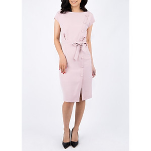 Đầm A Nẹp Trước De Leah - Hồng