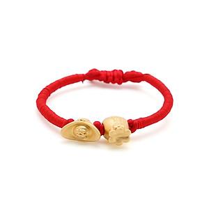 Hình đại diện sản phẩm Vòng Tay Handmade Vàng 24K Bao Tiền Phối Kim Nguyên Bảo Tài Lộc - ANCARAT
