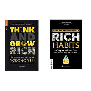Hình đại diện sản phẩm Combo sách 13 Nguyên Tắc Nghĩ Giàu Làm Giàu - Think And Grow Rich và Rich Habit - Thói Quen Thành Công Của Những Triệu Phú Tự Thân tặng cuốn rèn luyện kĩ năng cho bé