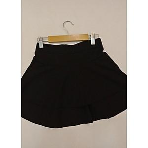 Hình đại diện sản phẩm Chân váy, Chân váy xòe, Chân váy ngắn, Chân váy 2 tầng có lớp quần lót bên trong ( Màu đen)