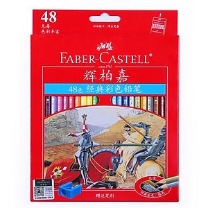 Hình đại diện sản phẩm Faber-Castell Classic Color Pencil 48 Color Oil Color Pencil Colored Colored Pencil Pencil Set 115848 (Iron Box)