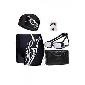 Hình đại diện sản phẩm Bộ bơi cho nam gồm mũ bơi, quần bơi, kính bơi, túi đựng