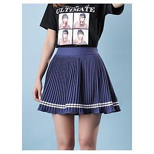 Hình đại diện sản phẩm Chân váy xòe nữ dáng xòe cực đẹp-xanh đậm