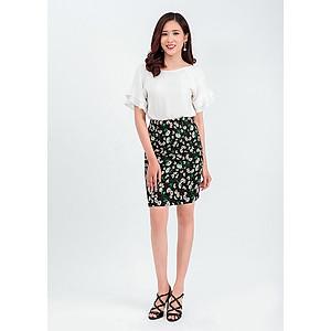 Hình đại diện sản phẩm Set áo tay bèo mix chân váy ôm hoa 48701-32201