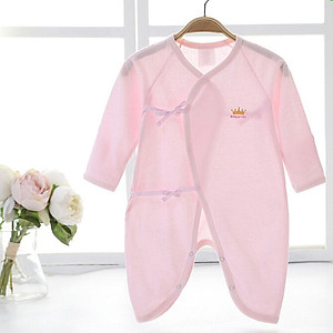 Hình đại diện sản phẩm Berriga Babyprints baby clothes cotton autumn newborn baby onesies baby monk clothing laces baby clothes pink pink 0-3 months 52cm jersey