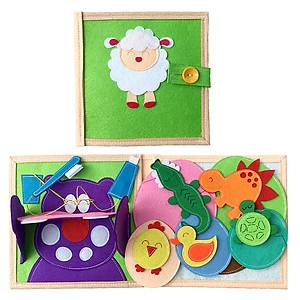 Hình đại diện sản phẩm Sách Vải Baby Động Vật - Dành Cho Bé Từ 0-2 Tuổi