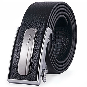 Hình đại diện sản phẩm Pierre cardin male belt suede leather automatic buckle belt business casual alloy buckle pants belt JFA80412015AA black