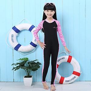 Hình đại diện sản phẩm Bộ bơi Sbart liền dài tới gót hồng đen cho bé từ 2-14 tuổi