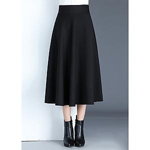 Hình đại diện sản phẩm Chân Váy Xòe Dài Hàn Quốc D0417 Đen